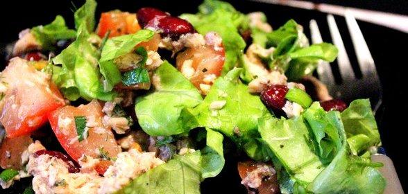 салат из горбуши рецепт фото