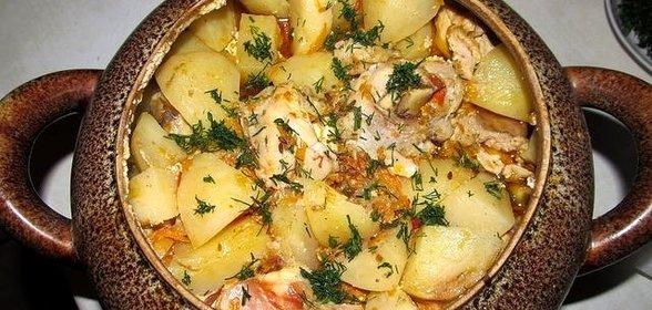 Мясо в горшочках с овощами рецепт пошагово