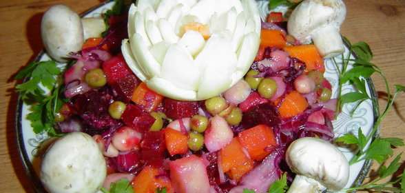 Салат с вареными грибами рецепт с фото