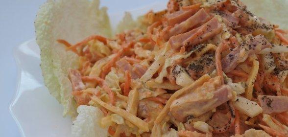 Салат с курицей и морковью по-корейски с орехами