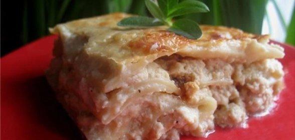 Пошаговый Непростой Рецепт Лазаний с курицей и сливочным соусом с фото для приготовления в домашних условиях