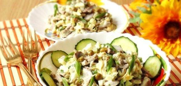 Куриные желудки салат рецепт
