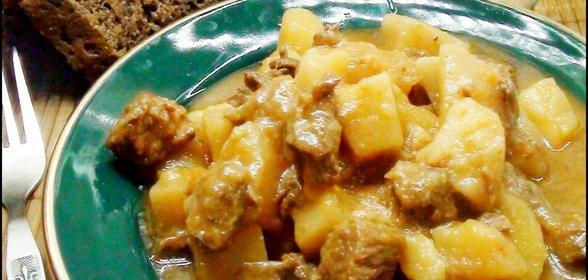 Мясной соус с картошкой рецепт с фото