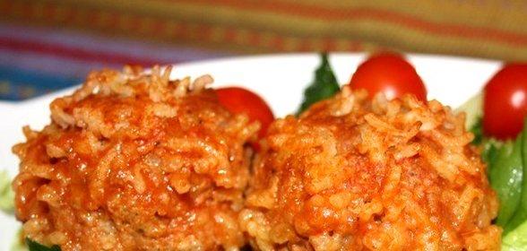 Как сделать мясные ежики с рисом с подливкой