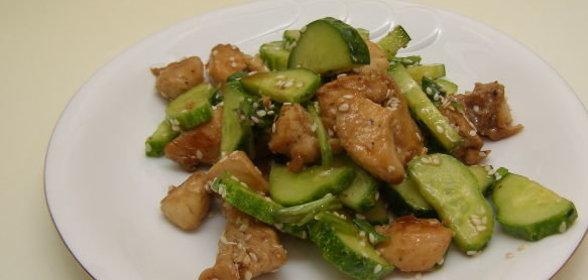 Салат с жареной курицей с фото