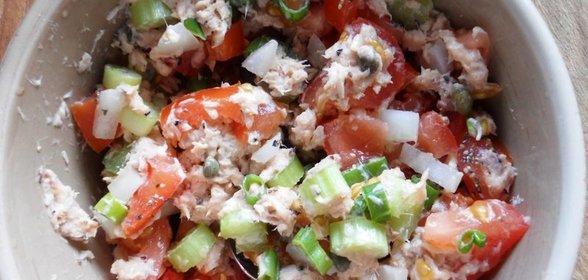 салат из горбуши с фото