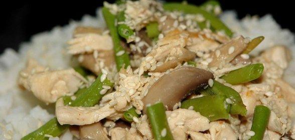 Рецепты из курицы фасоли грибы