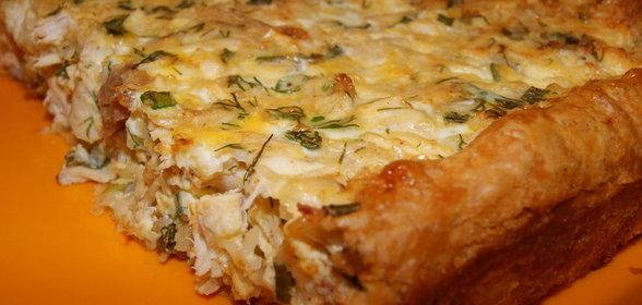 Пирог с курицей в домашних условиях рецепт