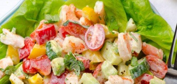 Салаты с креветками рецепты с простые и вкусные на день