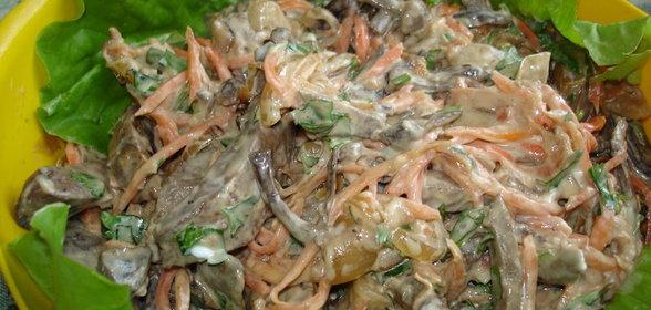 Салат из печени говяжьей фото