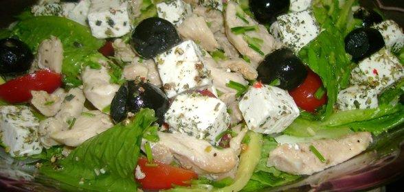 Греческий с курицей в домашних условиях рецепт  199
