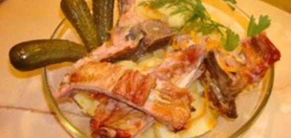 Копченые ребрышки с картошкой рецепт с фото в мультиварке