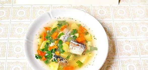 Суп из сайры консервированной рецепт с рисом