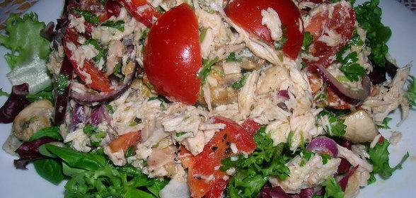 Рецепт с салат с куриной грудкой