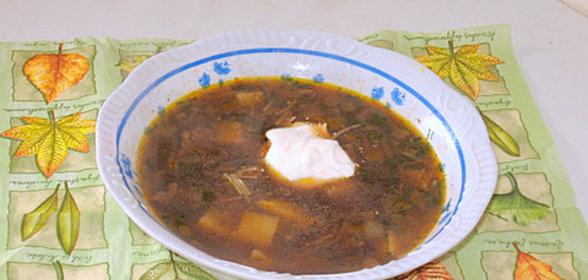 Суп из сушеных белых грибов рецепт пошагово в мультиварке