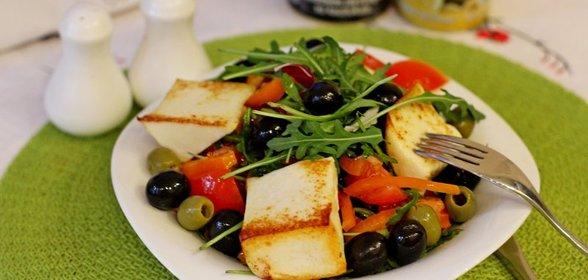 салат жареный сыр фото