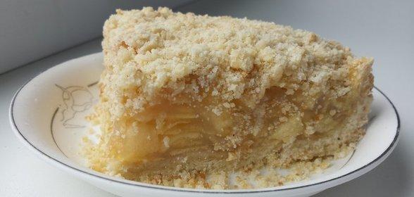 Песочное тесто с яблоками рецепт с фото