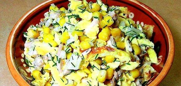 Салат с блинчиками пошаговый с фото