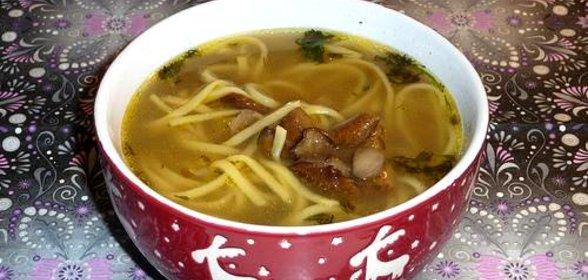 Суп лапша с грибами рецепт с фото