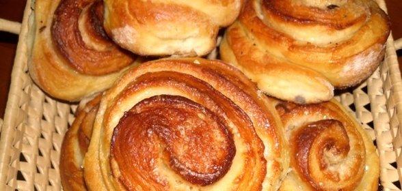 Булочки с сахаром домашние сладкие рецепт