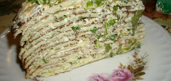 Закусочный торт из кабачков рецепт с фото