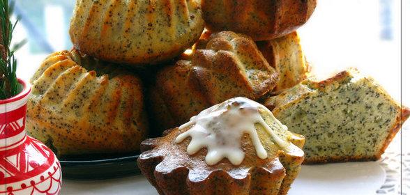 Творожный кекс с маком рецепт