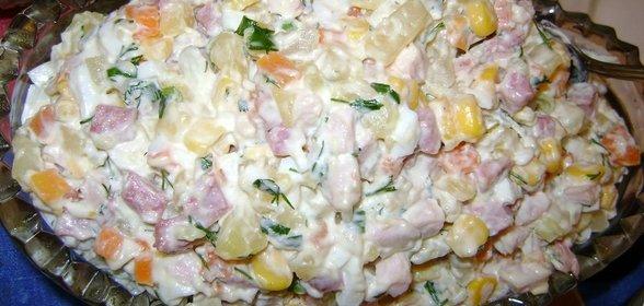 Домашние вкусные салаты с