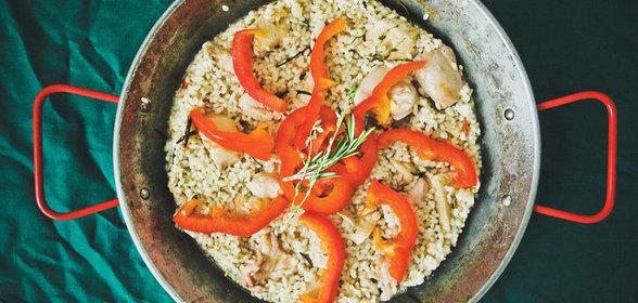 Паэлья с курицей пошаговый рецепт с фото