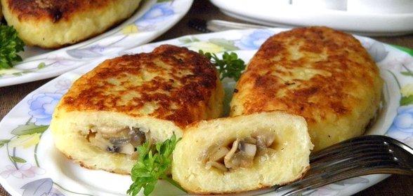 Рецепт зразы картофельные с фаршем и грибами пошаговый рецепт