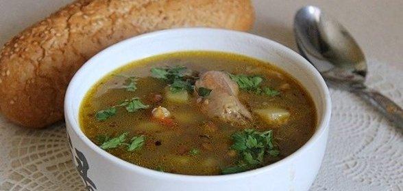 Суп с чечевицей и курицей рецепт с фото пошагово