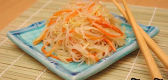 Фунчоза рецепт салата с пошагово простые для праздника