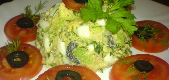 Салат из печени трески рецепт очень вкусный калорийность