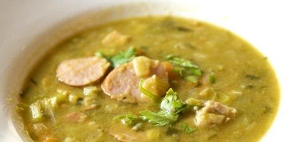 Суп с копченой колбасой пошаговый рецепт