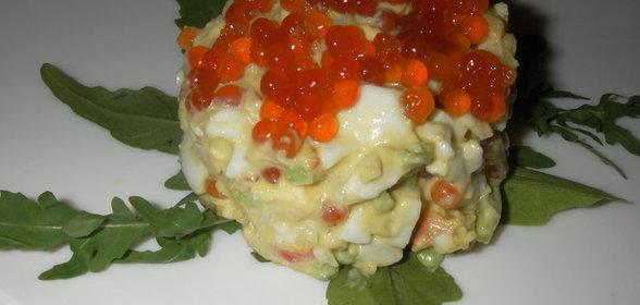 Салат с рукколой авокадо и креветками рецепт пошагово с