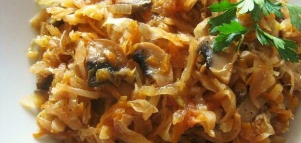 тушеная капуста с грибами рецепт в мультиварке