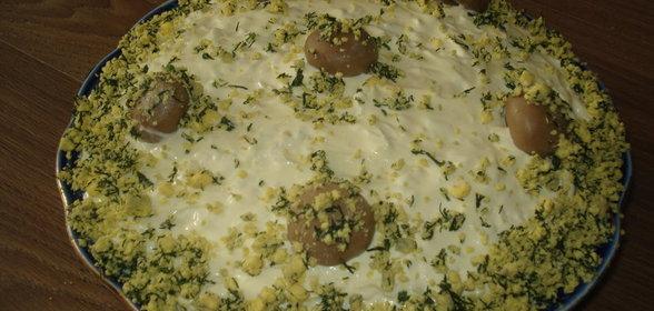 Салат шуба с курицей рецепт с фото