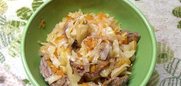Рецепт тушеной капусты с мясом пошагово с