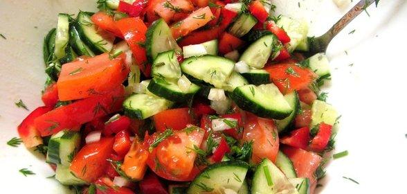 Вкусные салаты из овощей с фотографиями