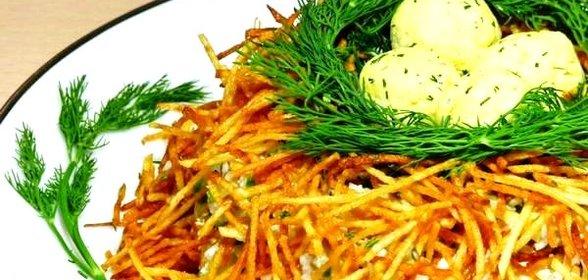 Фото салат гнездо глухаря