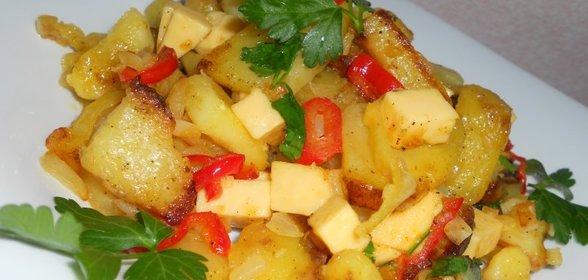 Картофель с овощами рецепт с пошагово