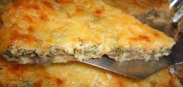 Грибной пирог рецепт с