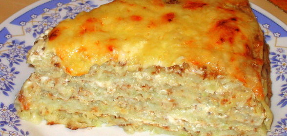 Кабачковый пирог рецепт пошагово