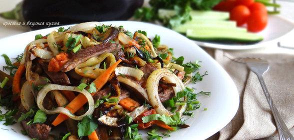 Салат горячий с мясом рецепт с