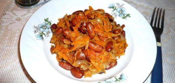 Фасоль тушёная рецепт с пошагово