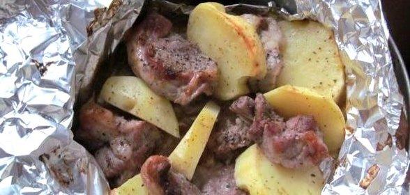 Запечь мясо в фольге пошаговый рецепт с