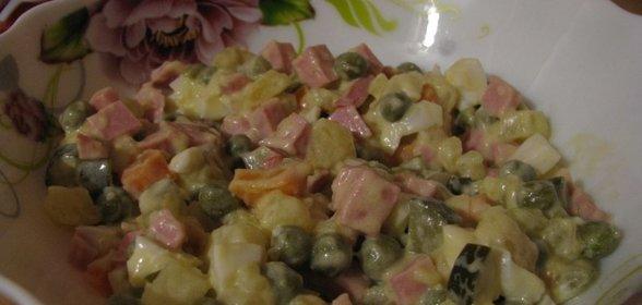 Оливье рецепт классический пошаговый рецепт с фото с свежим огурцом