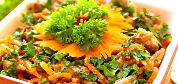 Салат обжорка грибами рецепт фото