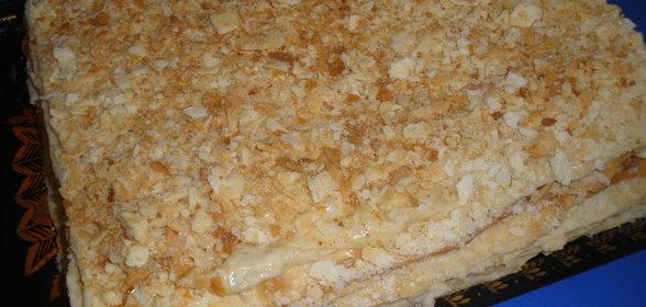 Крем торт наполеон пошаговый рецепт фото
