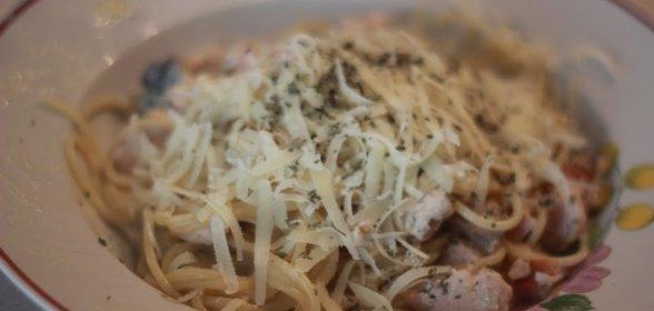 Карбонара с грибами рецепт с фото