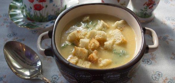 Гороховый суп с гренками рецепт с фото пошагово